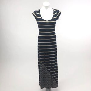 Everleigh striped stretch cap sleeve maxi dress